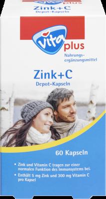 vita plus Zink + C Depot-Kapseln
