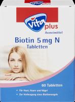 vita plus Biotin 5 mg N Tabletten